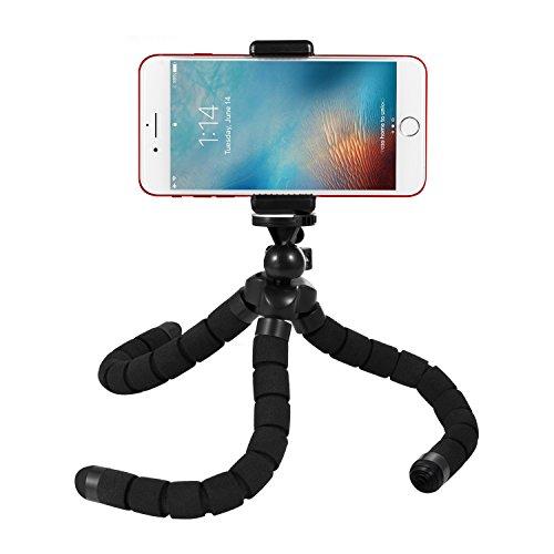 Kupton Oktopus Stil Stativ Handy Halterung Tragbares und verstellbares Flexible Stativ Stand Halter mit Clip für GoPro, Kamera, iPhone & Android Phone