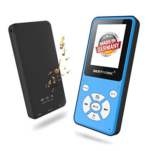 BERTRONIC Made in Germany Thor BC910 MP3 Player 2019 Bis 80 Stunden Wiedergabe Radio | Portabler Player mit Lautsprecher & wechselbarem Akku | Audio-Player mit MicroSD-Kartenslot & Gürtelclip