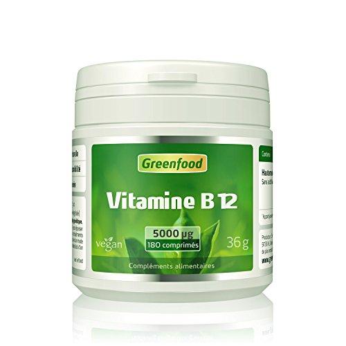 Vitamine B12, 5000 µg-180 Comprimés