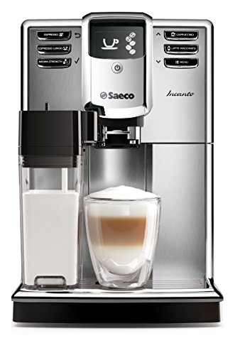 Saeco HD8917/01 Incanto Kaffeevollautomat, AquaClean, integrierte Milchkaraffe, silber