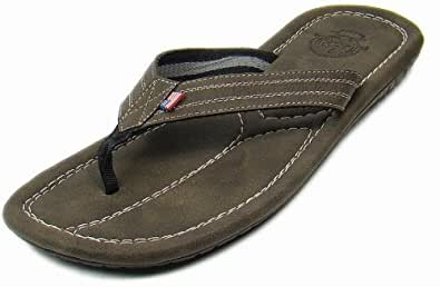 US Polo Assn Men's 2912V Brown Casual Slippers - 8