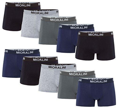 ➤ 10 farbige Herren Retro Boxershort Pants elastisch mit Elastan & Baumwoll weiche Unterhose Short Boxer Pant Hipster Boxershorts S M L XL 2XL 3XL 4XL