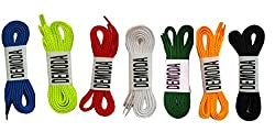 Demoda Flat Shoe Laces(Pack of 7 pair-Blue,Green,Red,Orange,Neon green,Black,White)