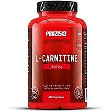 Prozis 100% Pure L-Carnitine Capsules 1500mg: Suplemento de aminoácidos de alta calidad para perder peso y potenciar la capacidad mental y la energía. ¡60 cápsulas!