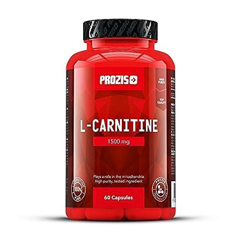 Prozis 100% reines L-Carnitin Kapseln 1500mg - Qualitativ hochwertiges Aminosäure-Ergänzungsmittel