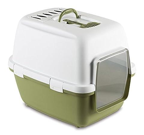 Kerbl Litter Box Cathy Comfort, 58 x 45 x 48 cm, Green/White
