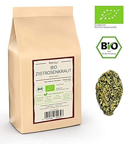 Kamelur 500g Bio Zistrosenkraut gerebelt - Cistus Incanus ohne jegliche Zusätze aus kontrolliert biologischem Anbau - verpackt in biologisch abbaubarer Verpackung