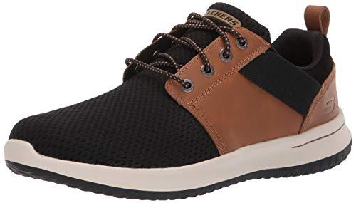 Skechers Herren Delson-Brant Sneaker, Braun (Brown Black Brbk), 39.5 EU