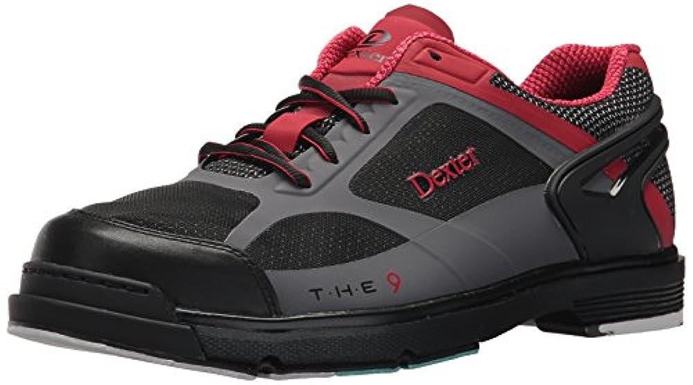 Dexter Herren Die 9HT Bowlingschuhe, Schwarz/Rot/Grau, Größe 11, 0