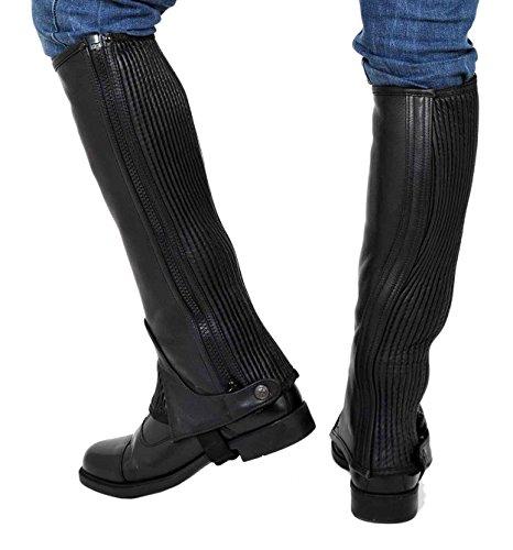 Riders Trend, Legging Genou Au Genou, En Cuir Pleine Fleur Noir (schwarz - Schwarz)