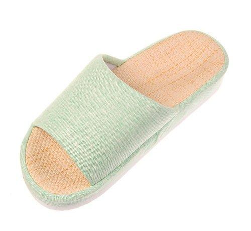 Bronze Times (TM) Unisexe Quatre Saisons Intérieures Coton Lin Maison Sandales
