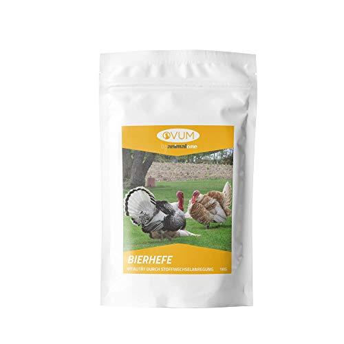 OVUM - BIERHEFE PUR 1 KG für Geflügel, Rassetauben & Brieftauben - Für EIN gesundes Federkleid & Gefiederglanz - Nahrungsergänzung