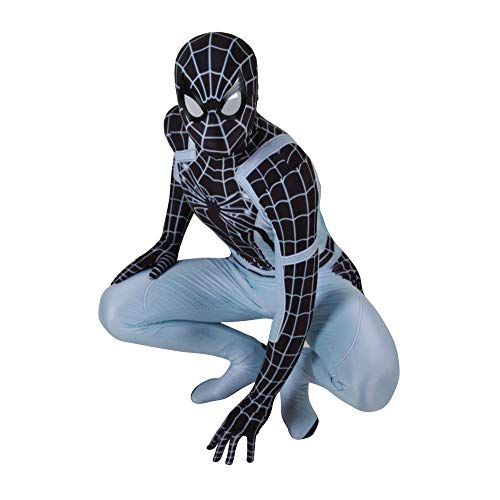 Weibliche Space Kostüm - KLEIDEE Negative Space Warfare Spiderman Cosplay Kostüm Lycra Siamese Strumpfhosen 3D Digitaldruck Enge Weihnachten Halloween Kostüm Für Erwachsene Tragen L