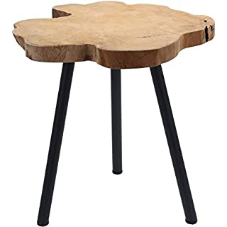 Teak Beistelltisch massiv - Holz Tisch Sofatisch Couchtisch Nachttisch Dekotisch