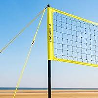 Vermont Juego de Voleibol – Postes, Red y Cinta para Marcar Campos para Voleibol/Voley Playa (con Bolsa de Transporte) (Voley Playa)