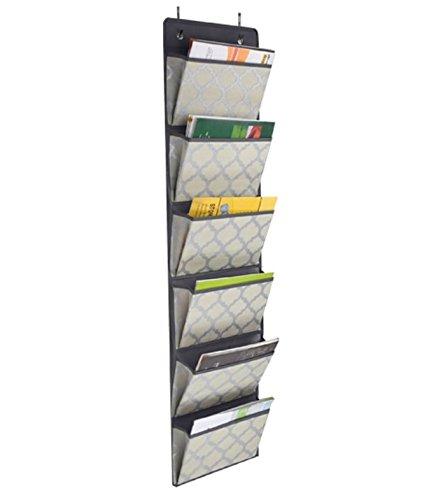 ROBSO Organizer Tür Organizer hänge Organizer Zum aufhängen mit 6 Fächern mit Modernem Design ablage Ordnungsystem für Zuhause, Büro oder Praxis schnell und einfach