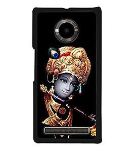 Krishna 2D Hard Polycarbonate Designer Back Case Cover for YU Yuphoria :: YU Yuphoria YU5010