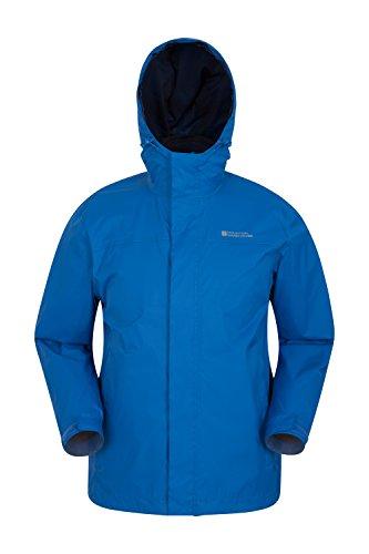Mountain warehouse giacca da uomo torrent - cappotto impermeabile, cappotto leggero, capospalla con cuciture nastrate, giacca casual con due tasche con zip - da viaggio cobalto xxx-large