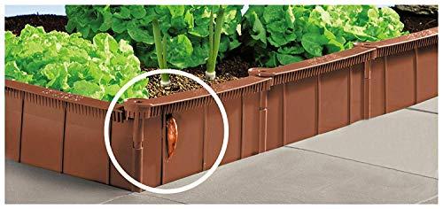 UPP Schneckenzaun & Beeteinfassung | Effektiver Schneckenschutz für Ihren Garten - ganz ohne Chemie | Einfache Installation Aber große Wirkung [1 Meter, Braun]