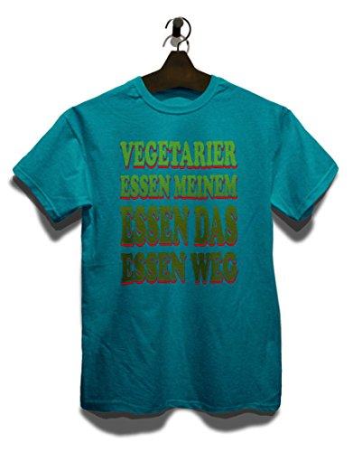 Vegetarier Essen Meinem Essen Das Essen Weg T-Shirt Türkis