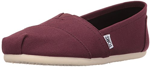 9,5 M Schuhe (TOMS Men's Classic Canvas Red Mahogany Ankle-High Flat Shoe - 9.5M)
