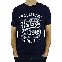1989 Vintage Year - Aged To Perfection - 30 Ans Anniversaire Homme Cadeaux T -Shirt 001e87c5a21