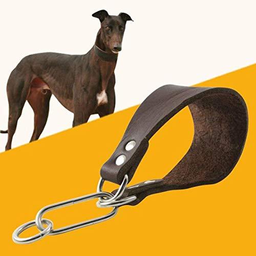 Collari Standard Collana per Cani in Pelle di Mucca per Collo Piccolo Levriero Whippet Cani Collare per Cani Personalizzato Personalizzato Accessori per Animali Domestici Durevoli Semplici