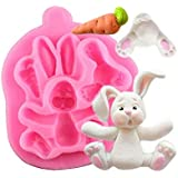 RETAIL SUPPLIES Bunny Silicone Cupcake DIY Art Multipurpose Clay, Resin, Sugar, Cement Mould (3D Rabbit)