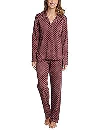 Schiesser Damen Zweiteiliger Schlafanzug Pyjama Lang