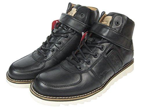 KangaROOS Herren Leder Sneaker Boot Stiefel Skywalker Schwarz