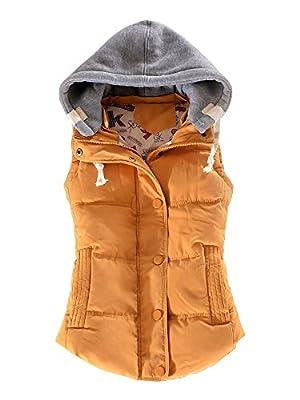 OCHENTA Women Quilted Waterproof Outdoor Gilet Zipper Vest Jacket