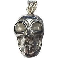 KRIO® - Hämatit Skull/Totenkopf als Anhänger mit Silberöse preisvergleich bei billige-tabletten.eu