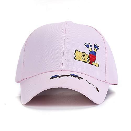 zhuzhuwen Cappello di Protezione del Cotone di Colore della Caramella del Cotone Cappello da Sole del Ricamo del Bambino del Sole Cappello da Baseball all\'aperto di Svago di Svago 6 Una Dimensione