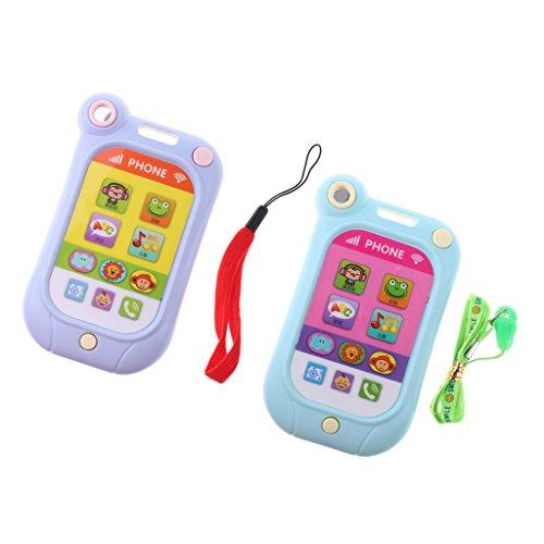 Sharplace 2PCS Kinder Handy Smartphone mit Sound & Musik Rollenspiel Spielzeug - Verbessern Baby die Hand Augen Koordination - Geschenke für Kinder, Baby und Kleinkind Baby Touch-screen-handy