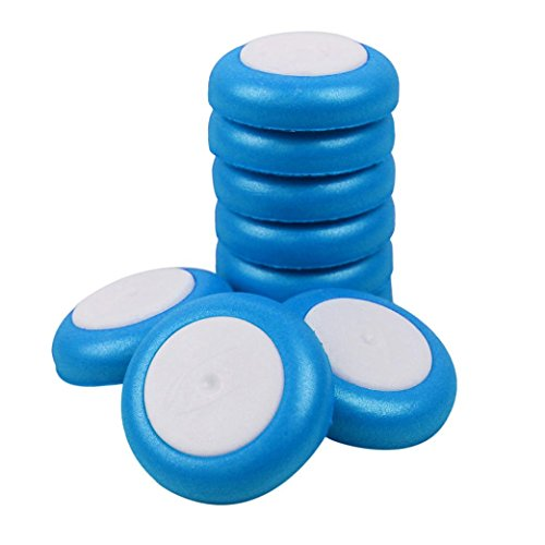HKFV 50 Stück Refill Discs Kugel Für Nerf Vortex Blaster Praxis Nitron Vigilon Proton 50 UFO Schaum Refill Discs Bullet (Blau) (Nerf Disc)