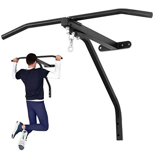 Physionics Boxsackwandhalterung mit Klimmzugstange - Fitnessgerät 2 in 1 max. Belastung bis ca. 100 kg