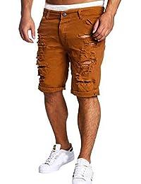 Culater® Hommes Jeans Décontracté Détruit Genou Longueur trou Déchiré Jeans/Pantalons