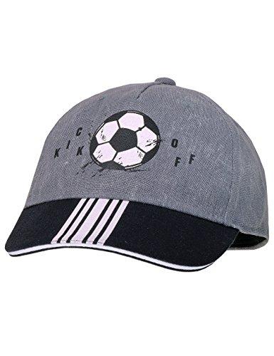 maximo Jungen Kappe Cap Kick Off, Grau (Graumeliert/Schwarz 546), 53/55