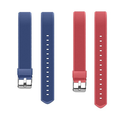 YiYunTE ID115Plus HR Replacement Strap - Adjustable TPU Replacement Bands For 115 Plus hr Smart Bracelet Fitness Trackers(Blue+Red)