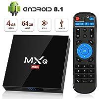 Android 8.1 TV Box, Superpow Smart TV Box Quad Core 4GB RAM+64GB ROM, BT 4.1, 4K*2K UHD H.265, HDMI, USB 3.0, WiFi Media Player, Android Set-Top Box