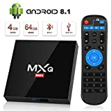 Android 8.1 TV Box, Superpow Smart TV Box Quad Core 4GB RAM+64GB ROM, BT 4.1, 4K*2K UHD H.265, HDMI, USB 3.0, WiFi Media Player, Android Set-Top Box