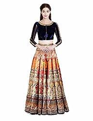 Lahenga Choli Designed By FABKAZ_(Dark Orange)