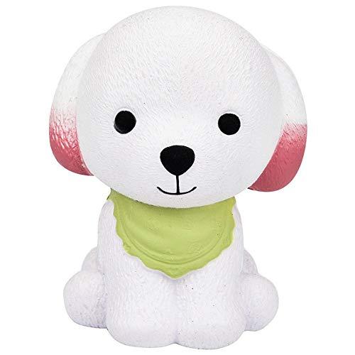 XZANTE 1 Stueck Riesigen Squishy Niedlichen Welpen Creme Hund Langsam Steigende Squeeze Dekompressions Spielzeug Gruen + Weiss -