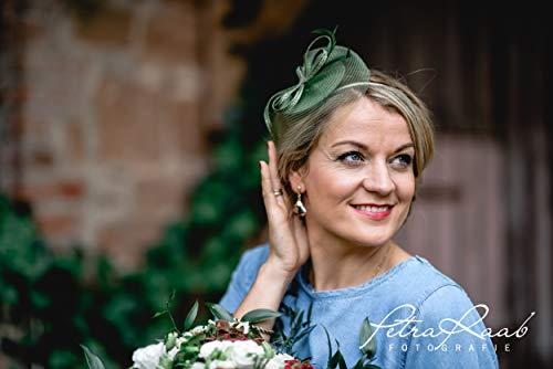 M30 Fascinator Headpieces mini Hütchen Royal hat Hut Ballhut Victoria Derby Kentucky Derby couture Millinery ()