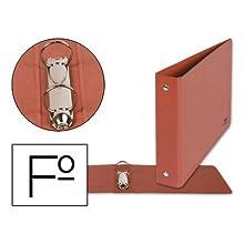 Raccoglitore a 2 anelli 25mm rotondi Liderpapel foglio orizzontale cartone e cuoio