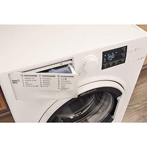 Bauknecht WA Soft 7F4 Waschmaschine Frontlader / A+++ / 1400 UpM / 7 kg / Weiß / langlebiger Motor / Nachlegefunktion / Wasserschutz - 10