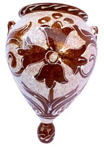 Cactus Canyon Keramik-Blumentopf für die Wand, spanische Orza (spanisches Café), handbemalt in Spanien - Canyon Keramik