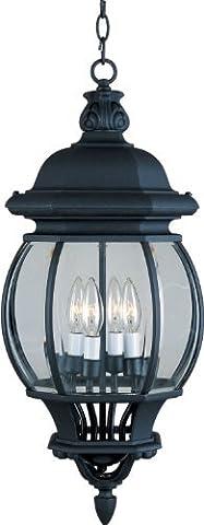 Maxim 1039BK, Crown Hill, 4-Light Outdoor Hanging Lantern, Black by