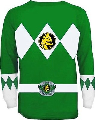 ng Sleeve Ranger Costume Green T-shirt (Adult X-Large) (Green Ranger Kostüm Erwachsene)