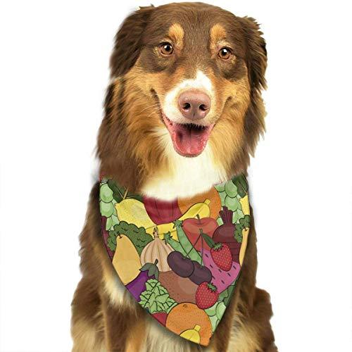 Sdltkhy Vegetables Fruit Pattern Pet Dog Cat Bandanas Triangle Bibs Pet Scarf Dog Neckerchief Headkerchief Pet ()